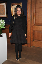 DANIELLA ISSA HELAYEL at a cocktail party and auction to launch the forthcoming celebrations for Mikhail Gorbachev's 80th birthday held at Christie's, 8 King Street, London on 3rd February 2011.