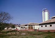 Silos barns sheds calves grazing, Fazenda Sant' Anna, Campinas, Brazil, South America 1962