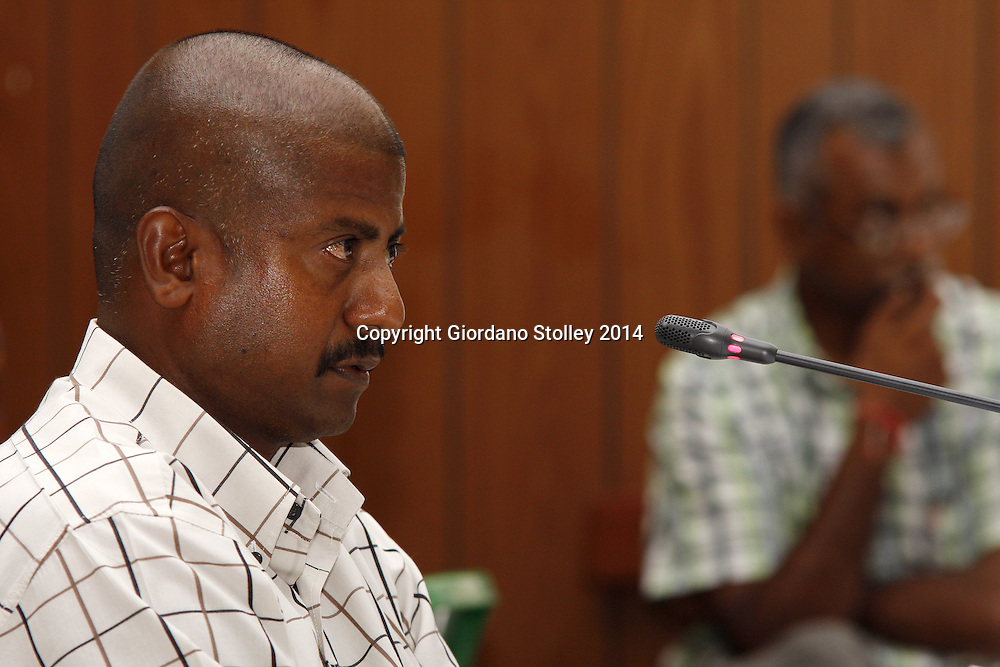 DURBAN - 11 February 2014 - Ronnie Pillay, a site foreman for Gralio Precast (Pty) Ltd gives evidence to a Department of Labour commission of inquiry established to probe the events that led to a Tongaat Mall collapsing, killing two people and injuring 29 on November 19, 2013. Pillay was working on the construction site on the day it collapsed. Picture: Allied Picture Press/APP