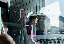 Wayne Rooney and Raheem Sterling in bus during arrival of  England National Football team 1 day before EURO 2016 Qualifications match against Slovenia, on June 13, 2015 in Airport Joze Pucnik, Brnik - Ljubljana, Slovenia. Photo by Vid Ponikvar / Sportida