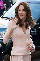 © Licensed to London News Pictures. 04/05/2016. London, UK. Catherine,Duchess of Cambridge arrives at the National Portrait Gallery to attend the Vogue 100: A Century of Style exhibition. Photo credit: Ray Tang/LNP