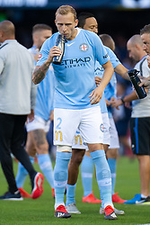 February 23, 2019 - Melbourne, VIC, U.S. - MELBOURNE, VIC - FEBRUARY 23: Melbourne City defender Ritchie de Laet (2) drinks water prior to the match at round 20 of the Hyundai A-League Soccer between Melbourne City FC and Melbourne Victory on February 23, 2019 at Marvel Stadium, VIC. (Photo by Speed Media/Icon Sportswire) (Credit Image: © Speed Media/Icon SMI via ZUMA Press)