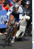 CYCLING - TOUR DE FRANCE 2004 - PROLOGUE LIEGE (BEL) - INDIVIDUAL TIME TRIAL - PHOTO: OLIVIER LABALETTE / DPPI<br />FABIAN CANCELLARA (SUI) / FASSA BORTOLO