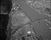 "Ackroyd 20353-1. ""aerials. December 31, 1977"", ""Schnitzer Industries. Now Wacker Siltronic.g  (area next to Railroad bridge on Willamette River)"
