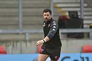 Rhys Williams (22) of Salford Red Devils during the warm up