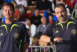 Referees Frank Lemme and Berndt Ullrich at E group of EHF Champions League Men 2008/2009 between RK Cimos Koper (SLO) and Portland San Antonio (ESP), on October 18, 2008,  in Bonifika Hall, Koper, Slovenia. (Photo by Vid Ponikvar / Sportida)