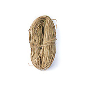 A skein of spliced hemp from Qie Chong village, Guizhou province, China. Although hemp production is decreasing because land is need for cash crops and manufactured cotton is readily available, it is still grown, spliced and women in remote mountain villages in Guizhou Provinces.