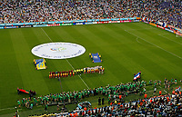 Photo: Glyn Thomas.<br />Portugal v France. Semi Final, FIFA World Cup 2006. 05/07/2006.<br /> The French and Portugese teams line up for the national anthems.