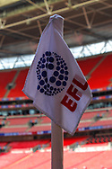 EFL branded corner flag before the EFL Sky Bet League 2 Play Off Final match between Newport County and Tranmere Rovers at Wembley Stadium, London, England on 25 May 2019.