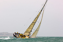 © Sander van der Borch.Alicante, 11 October 2008. Start of the Volvo Ocean Race.Team Russia  at the start of the first leg to from Alicante  to Capetown..