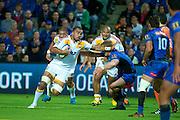 Liam Messam of the Chiefs fends off. Super Rugby, Western Force v Chiefs. Perth, Western Australia, nib Stadium. Friday 6th April 2012. Photo: Daniel Carson  Photosport.co.nz