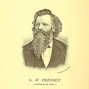Portrait of G. W. Pressey inventor of the American Star Bicycle in 1880