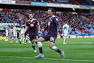 George Thorne of Derby County celebrates after scoring his teams 2nd goal. Skybet football league Championship match, Huddersfield Town v Derby county at the John Smith's Stadium in Huddersfield , Yorkshire on Saturday 24th October 2015.<br /> pic by Chris Stading, Andrew Orchard sports photography.