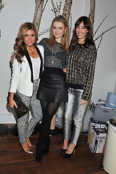 Left to right, ZOE HARDMAN, AMBER ATHERTON and LAURA JACKSON at a party to celebrate the launch of the Casio Tokyo watch in association with Flashtrash.com held at itsu, 10a Blandford Road, London W1 on 28th January 2013.
