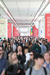 Italy, Milan  - April 17, 2018.The opening of the FIERA DEL MOBILE, MILANO  - FURNITURES FAIR 2018. (Credit Image: © Cattaneo/Fotogramma/Ropi via ZUMA Press)