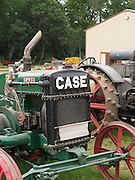 Front view of an antique J.I. Case diesel tractor at the Rock River Thresheree, Edgerton, Wisconsin; 2 Sept 2013