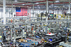 Harley-Davidson's Pilgrim Road plant on a visit during the Milwaukee Rally. Milwaukee, WI, USA. Friday, September 2, 2016. Photography ©2016 Michael Lichter.