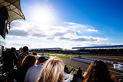 Bristol Sport sponsors watch Dino Zamparelli racing from the hospitality suite | Bristol Sport Racing | #88 Porsche 911 GT3 Cup Car | Porsche Carrera Cup GB | Race 2 - Mandatory byline: Rogan Thomson/JMP - 07966 386802 - 27/09/2015 - MOTORSPORT - Silverstone Circuit - Towcester, England - BTCC Meeting Day 2.