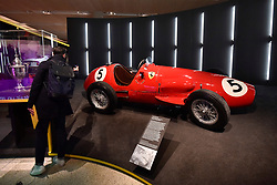 """© Licensed to London News Pictures. 14/11/2017. London, UK.  A Ferrari 500, 1952.  Preview of """"Ferrari: Under the Skin"""", an exhibition at the Design Museum to mark the 70th anniversary of Ferrari.  Over GBP140m worth of Ferraris are on display from private collections including Michael Schumacher's 2000 F1 winning car.  The exhibition runs 15 November to 15 April 2018.  Photo credit: Stephen Chung/LNP"""