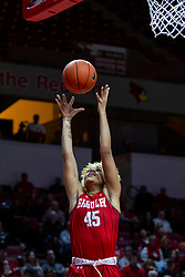 NORMAL, IL - February 07:  Nyjah White gets the rebound during a college women's basketball game between the ISU Redbirds and the Braves of Bradley University February 07 2020 at Redbird Arena in Normal, IL. (Photo by Alan Look)