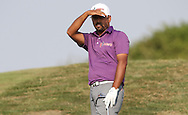 Anirban Lahiri (IND) shades his eyes from the evening sun on the 12th during Round One of the 2015 Alstom Open de France, played at Le Golf National, Saint-Quentin-En-Yvelines, Paris, France. /02/07/2015/. Picture: Golffile | David Lloyd<br /> <br /> All photos usage must carry mandatory copyright credit (© Golffile | David Lloyd)
