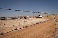 The construction of a new camp to house an estimated 100,000 Syrian refugees is being built on the outskirts of Suruç, Sanlıurfa province, Turkey