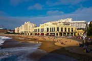 Social distancing by the casinon and Grand Plage, Biarritz, France, during the Covid 19 Pandemic in 2020