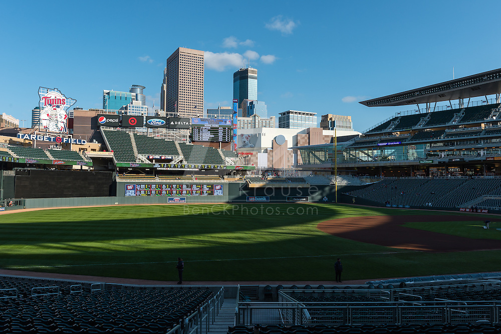 A general view of Target Field before Game 2 of a split doubleheader between the Minnesota Twins and Miami Marlins on April 23, 2013 at Target Field in Minneapolis, Minnesota.  The Marlins defeated the Twins 8 to 5.  Photo: Ben Krause