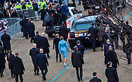 Washington D.C. January 20, 2017 Donald trump and his family walk along the parade route after Trump is inaugurated as the 45th President of the United States.