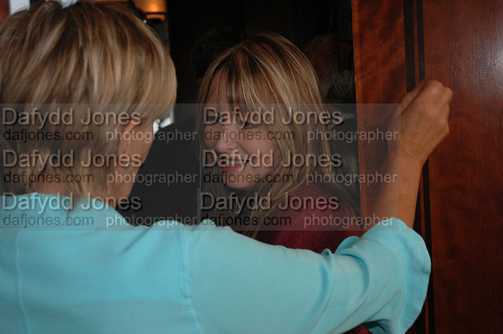 Candida Lycett-Green and Mary Killen, Telegraph magazine 40th anniversary, Windows, London Hilton. 6 September 2004. SUPPLIED FOR ONE-TIME USE ONLY-DO NOT ARCHIVE. © Copyright Photograph by Dafydd Jones 66 Stockwell Park Rd. London SW9 0DA Tel 020 7733 0108 www.dafjones.com