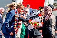 King Willem-Alexander and Queen Maxima of The Netherlands arrive with the Dutch government plane PH-GOV at the airport of Jakarta, Indonesia, 9 March 2020. The Dutch King and Queen are in Indonesia for their 4 day State Visit. Photo: Robin Utrecht