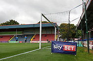 Sky Bet advertising pre-match during the EFL Sky Bet League 1 match between Rochdale and Gillingham at Spotland, Rochdale, England on 23 September 2017. Photo by Daniel Youngs.