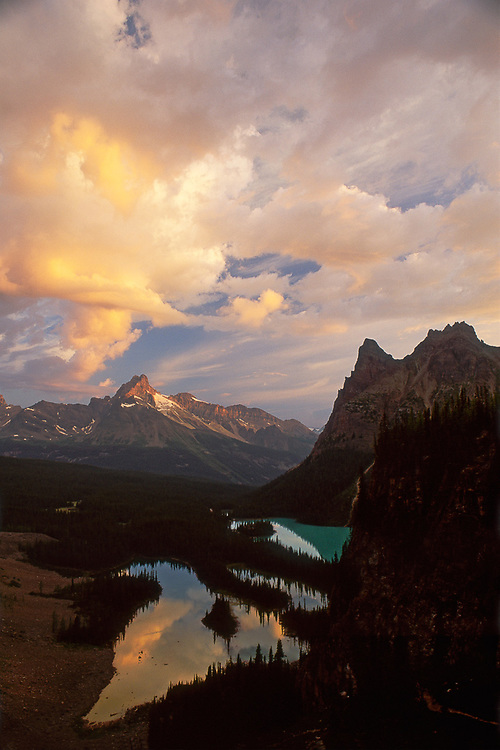 Lake O'Hara, morning light, Yoho National Park, Alberta, Canada