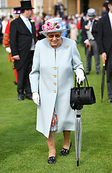 Queen Elizabeth II attending the Royal Garden Party at Buckingham Palace in London.