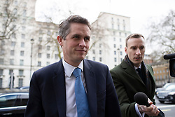 © Licensed to London News Pictures. 02/03/2020. London, UK. Secretary of State for Education Gavin Williamson arrives at The Cabinet Office. Photo credit: George Cracknell Wright/LNP