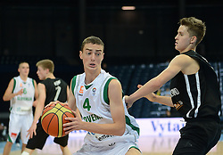 Matej Kavas of Slovenia during basketball match between National teams of Slovenia and Germany in Division A of U16 Men European Championship Lithuania 2012, on July 20, 2012 in Panevezys, Lithuania. (Photo by Robertas Dackus / Sportida.com)