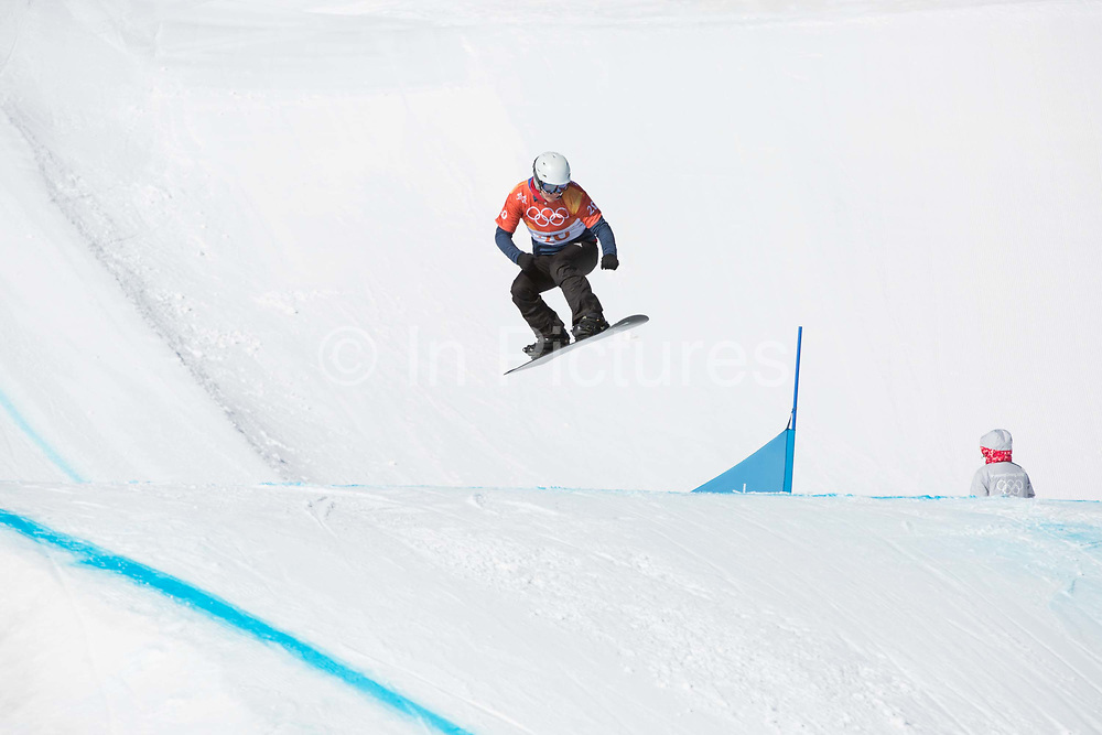 Zoe Gillings-Brier, Great Britain, during the womens boardercross time trials at the Pyeongchang Winter Olympics on 16th February 2018 at Phoenix Snow Park in South Korea