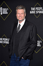 Blake Shelton attends the 2019 E! People's Choice Awards at Barker Hangar on November 10, 2019 in Santa Monica, CA, USA. Photo by Lionel Hahn/ABACAPRESS.COM