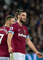 Football - 2018 / 2019 Premier League - West Ham United vs. Brighton & Hove Albion<br /> <br /> Blood flows from the eye wound of Andy Carroll (West Ham United) at the London Stadium<br /> <br /> COLORSPORT/DANIEL BEARHAM