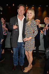 LUCY PUNCH and RICHARD BEAN at the West End opening night of 'Great Britain' a  play by Richard Bean held at The Theatre Royal, Haymarket, London followed by a post show party at Mint Leaf, Suffolk Place, London on 26th September 2014.