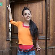 Piccolo Teatro Grassi, Milano, Italia, 30 Marzo 2021. Marta Pistocchi, 40 anni, violinista e attrice comica.