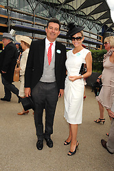 NICK BARHAM and KAREN CARWIN at the 1st day of the 2008 Royal Ascot racing festival on 17th June 2008.<br /><br />NON EXCLUSIVE - WORLD RIGHTS