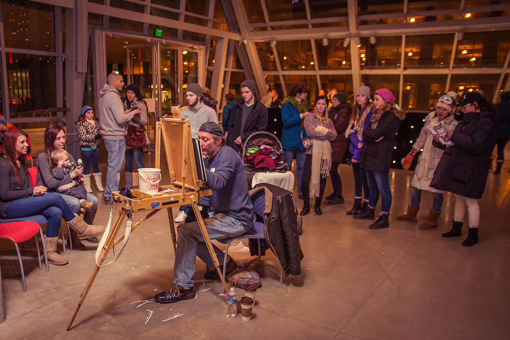 Let's Face it Caricatures at First Night Akron 2015