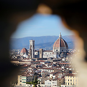 FLORENCE, ITALY - NOVEMBER 01:  A panoramic view of Florence showing Florence's Cathedral, Basilica di Santa Maria del Fiore, known as Duomo in Florence, Italy. The Duomo is the main church of the city of Florence. Construction was started in 1296 in the Gothic style with the structure completed in 1436. The famous dome was designed by Arnolfo di Cambio and engineered by Filippo Brunelleschi. Florence, Italy, 1st November 2017. Photo by Tim Clayton/Corbis via Getty Images)