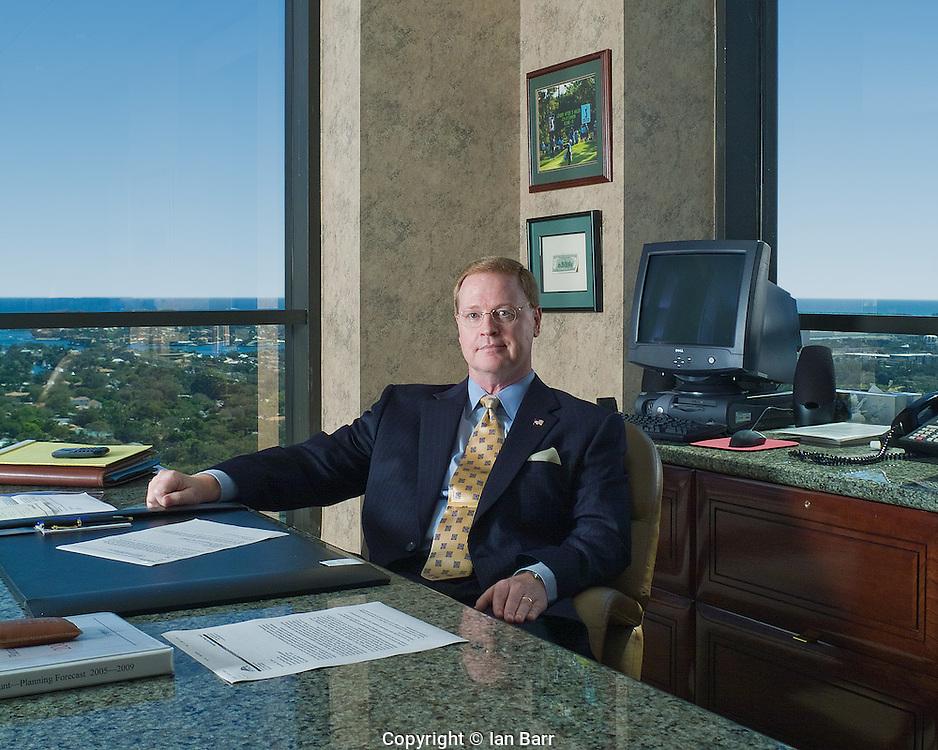 Portrait of Ken Baylor,for Nova Southeastern University,