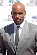 June 30, 2012-Los Angeles, CA : Actor Boris Kodjoe attends the 2012 BET Awards held at the Shrine Auditorium on July 1, 2012 in Los Angeles. The BET Awards were established in 2001 by the Black Entertainment Television network to celebrate African Americans and other minorities in music, acting, sports, and other fields of entertainment over the past year. The awards are presented annually, and they are broadcast live on BET. (Photo by Terrence Jennings)
