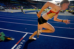 Fabienne Kohlmann of Germany competes in the women's 4x400m Relay Final during the day nine of the 12th IAAF World Athletics Championships at the Olympic Stadium on August 23, 2009 in Berlin, Germany. (Photo by Vid Ponikvar / Sportida)