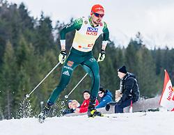 02.03.2019, Seefeld, AUT, FIS Weltmeisterschaften Ski Nordisch, Seefeld 2019, Nordische Kombination, Langlauf, Team Bewerb 4x5 km, im Bild Vinzenz Geiger (GER) // Vinzenz Geiger of Germany during the Cross Country Team competition 4x5 km of Nordic Combined for the FIS Nordic Ski World Championships 2019. Seefeld, Austria on 2019/03/02. EXPA Pictures © 2019, PhotoCredit: EXPA/ Stefan Adelsberger