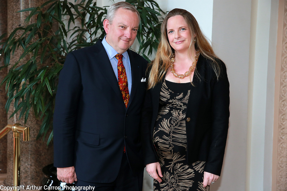 8/4/14 Jean Michel Cochet, Ambassador a la Maison Hennessy and Caragh Walsh, Hennessy at the Hennessy Literary Awards at the Westin Hotel in Dublin. Picture:Arthur Carron
