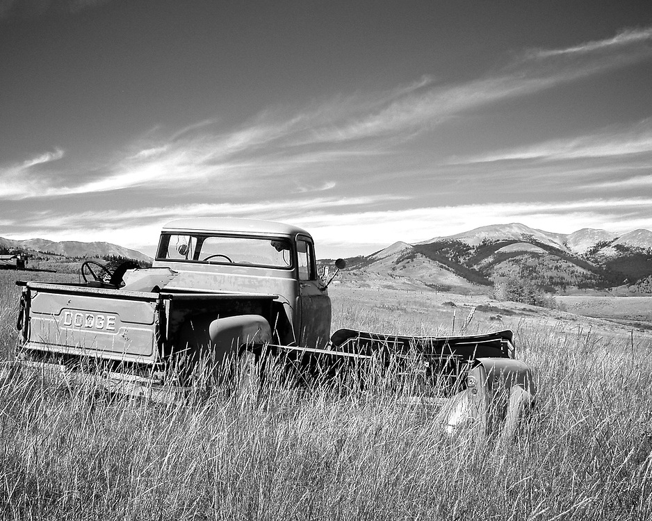While touring southern Colorado, we came upon this old Dodge pickup in a field.
